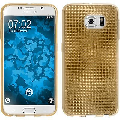 Silicone Case for Samsung Galaxy S6 Iced gold + protective foils