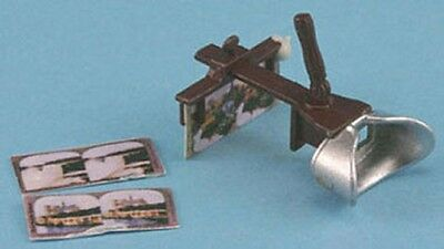 Dollhouse Miniature 1:12 Scale Stereoscope with Slides #CB55
