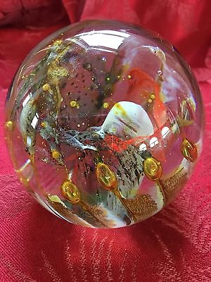 FLAWLESS Exceptional Irish KERRY GLASS Abstract Modernist Handmade PAPERWEIGHT