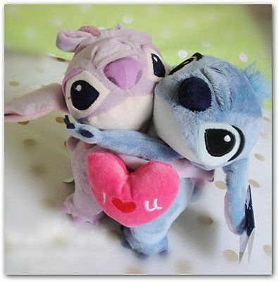 Peluche Stitch Girl Friend Angel Love Hug Plush Toy Doll Gift Limited Collection