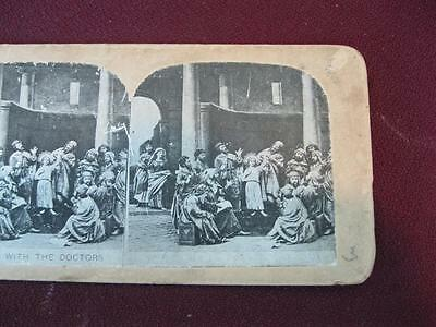 Stereoview Christian Christianity Bible Scene Jesus With The Doctors (O) AS IS