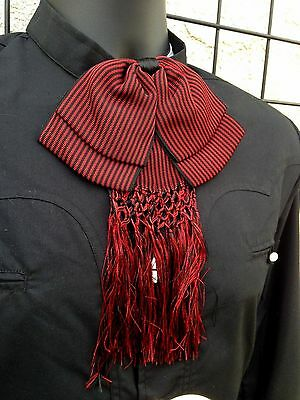 Mexican Bow Tie Charro and Mariachi Red/Black Adult From Mx.Moño Charro/Mariachi