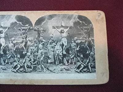 Stereoview Christian Christianity Bible Scene Jesus Dies On The Cross (O) AS IS