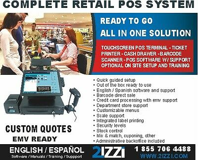 ALL NEW COMPLETE KILDAR PRO AiO POS RETAIL/SUPER/MINIMARKET SOLUTION W/SUPPORT