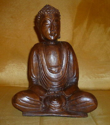 buddha figur aus holz eur 29 00 picclick de. Black Bedroom Furniture Sets. Home Design Ideas