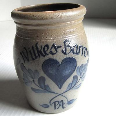 Vintage 1990 Rowe Pottery Works Salt Glazed Crock Stoneware Wilkes Barre PA