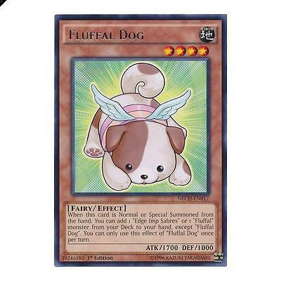 Yu-Gi-Oh! YuGiOh Fluffal Dog - NECH-EN017 - Rare 1st Edition The New Challengers
