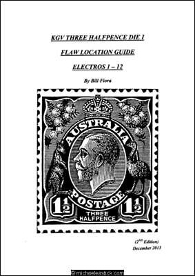 KGV 1½d Die 1, Flaw Location Guide, Electros 1-12 & Electros 13-29 by Bill Fiora