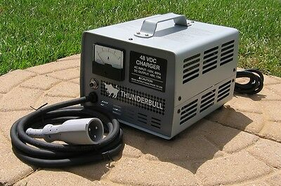 Golf Cart Battery Charger - Club Car 48 Volt - Plug and Play - No Modifications
