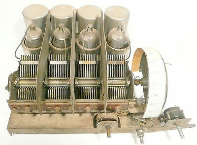 vintage* BRUNSWICK S-21 RADIO part:  Untested CHASSIS w/ 4 TUBES
