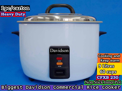 Davidson Commercial Biggest Rice Cooker 60 cups/10L  CFXB 230 - 15A power cord