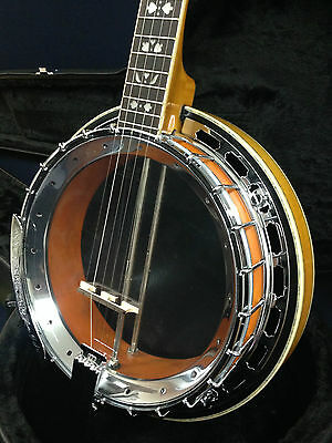 Caraya 009A 5-string Clear Top Banjo w/Tone Ring,Flame Maple Resonator+Hard Case