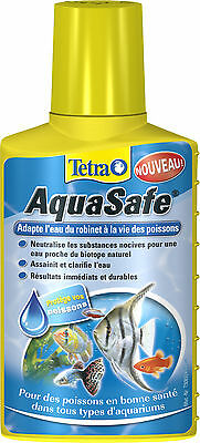 Conditionneur d'eau Aquasafe 100 ml Tetra pour aquarium