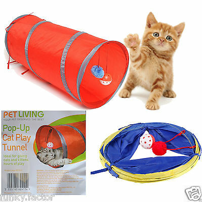 Branded Pet Living Pop Up Cat Kitten Play Tunnel Fun & Strong For Cat Rabbit Toy