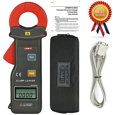 UNI-T UT251A RS-232 10000Count Leakage Current Clamp Meter 0.001mA-60A Data Hold