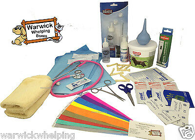 UK Warwick Whelping Boxes  Deluxe Whelping Kit with 500g Lactol Puppy Milk Dog