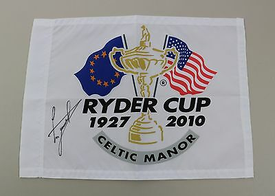 Luke Donald Signed Ryder Cup 2010 Pin Flag Autograph Golf Memorabilia COA