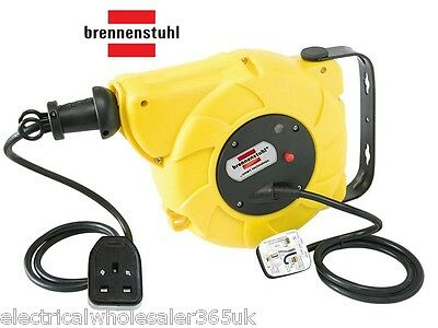 Automatic Cable Reel Wall/Ceiling Mounted 9M+2M 13A 220V brennenstuhl 1241023300