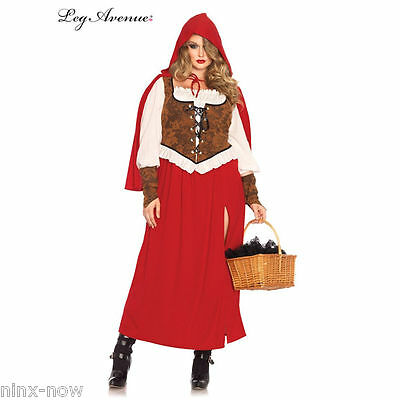 Red Riding Hood Plus Size Womens Costume sizes 1XL to 4XL Leg Avenue