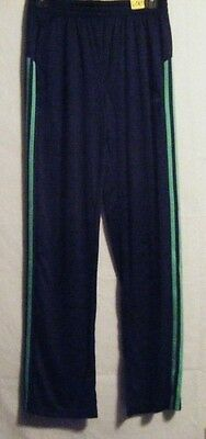 NWT Adidas Boy's Youth Core Pants Navy w/Green Size L14/16