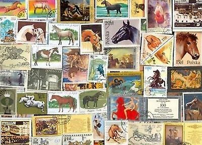 80 Horses On Stamps