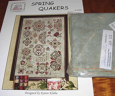 Rosewood Manor Spring Quakers Cross Stitch Chart & Cashel Linen Preorder