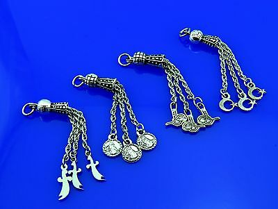 Metal tassel 4pcs set Islamic Prayer Beads Misbaha Tesbih from TURKEY 821006