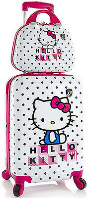 Heys America Luggage Hello Kitty 2 Piece Expandable Suitcase Set NEW