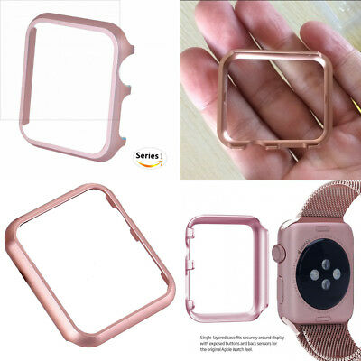 ROSE GOLD ALUMINIUM Cover Protector Case Bumper For 42MM APPLE WATCH iWatch 1
