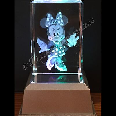 Minnie Mouse 3D Laser Crystal Block with LED Colour Change Base Night Light