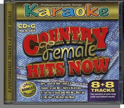 Karaoke CD+G - Country Female Hits Now - New 8 Song CD! It's My Time, Burn