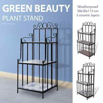 3 Colours Mosaic 3 Tier Plant Stand Pot Rack Garden Flower Display Shelf Storage