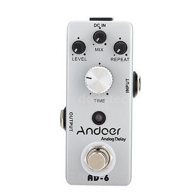 Andoer TC-31 AD-6 Analog Delay Chitarra Effetti a Pedale True Bypass