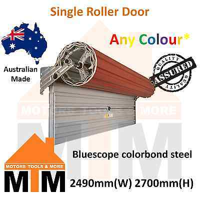 """""""Brand New"""" Single Roller Garage Door 2490mm(W) x 2700mm(H) Any Colour"""