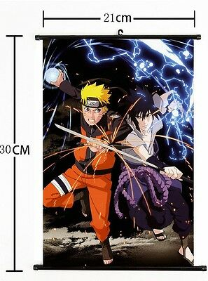 Hot Japan Anime NARUTO Art Cosplay Wall Scroll Poster Home Decor 21*30CM AA+