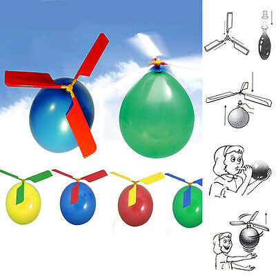 1 Set Cute Balloon Helicopter Flying Educational Toys Kids Boys Girls Gift VNC