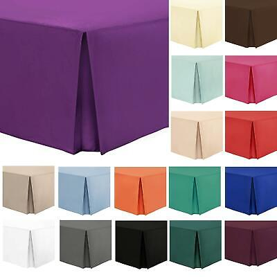 Nimsay Home Plain Box Pleated Base Platform Valance Sheets with 16inch Bed Skirt