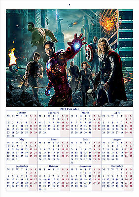 The Avengers - 2017 A4 CALENDAR **BUY ANY 1 AND GET 1 FREE OFFER**