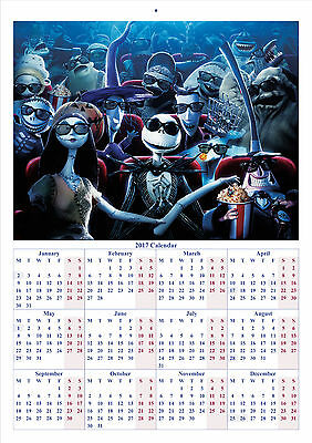 The Nightmare Before Christmas - 2017 A4 CALENDAR BUY ANY 1 AND GET 1 FREE OFFER