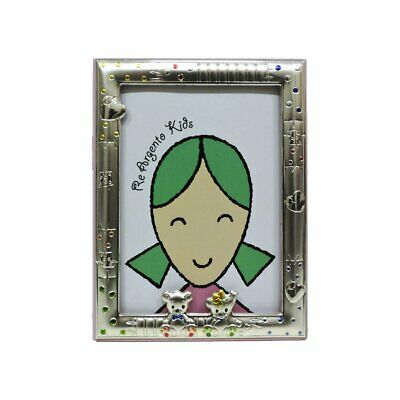 Picture Frame Baby Bears Pink 3,5x5'' in Silver