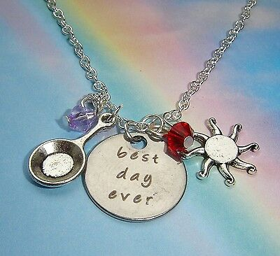 Best Day Ever Charms Sun Crystal Necklace Tangled Inspired Princess Rapunzel