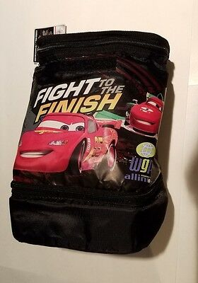 Racing Sports Network Disney Pixar Black Insulated lunch kit Fight to the Finish
