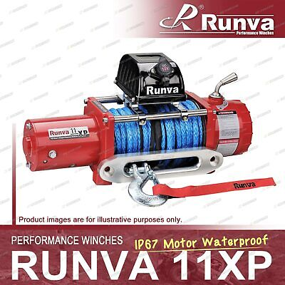 Runva 11XP IP67 Motor Waterproof 24V with Synthetic Rope RED Recovery Winch Kit
