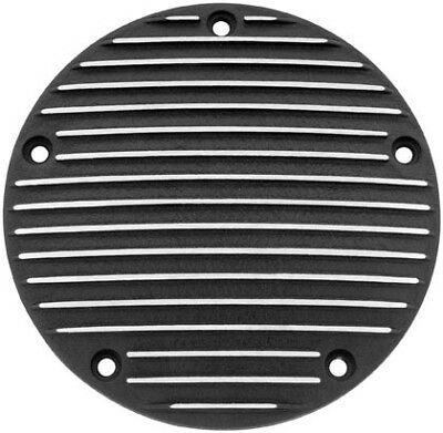 Bikers Choice Domed Derby Cover, Black Finned 19-006 66-6742