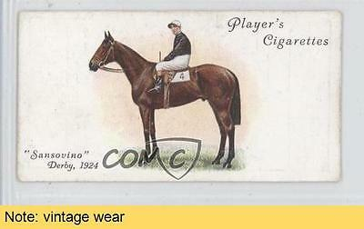 1933 Player's Derby and Grand National Winners #17 Sansovino READ Card 0a1