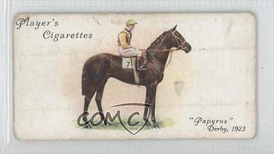 1933 Player's Derby and Grand National Winners Tobacco Base #16 Papyrus Card 0a1