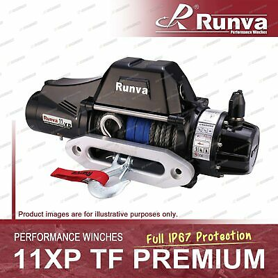 Runva 11XP TF PREMIUM IP67 Full Protection 12V with Synthetic Rope Winch Kit