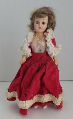 VINTAGE ROARING 20's RED EVENING GOWN DOLL                     (INV11046)