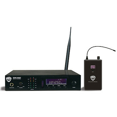 Nady PEM-1000 UHF 100 Channel PLL In-Ear Monitor System (Replaces PEM-500)