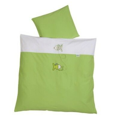 Odenwälder 2049-525 Baby bedding 80 x 80 cm from Jersey, lime